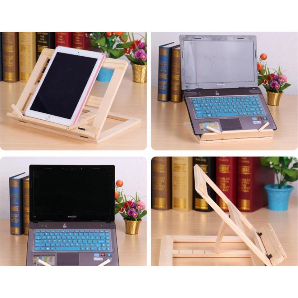 Adjustable Portable Wood Book Stand Holder Wooden Bookstands Laptop Tablet Study Cook Recipe Books Stands Desk Dr jllNSD sport77777
