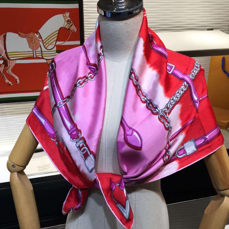 Frauen Quadrat Schal Bunte Krawatte Farbstoff Hoher Qualität Brief Druck Turban-Tuch mit Tag Damen Luxurys Modeschals