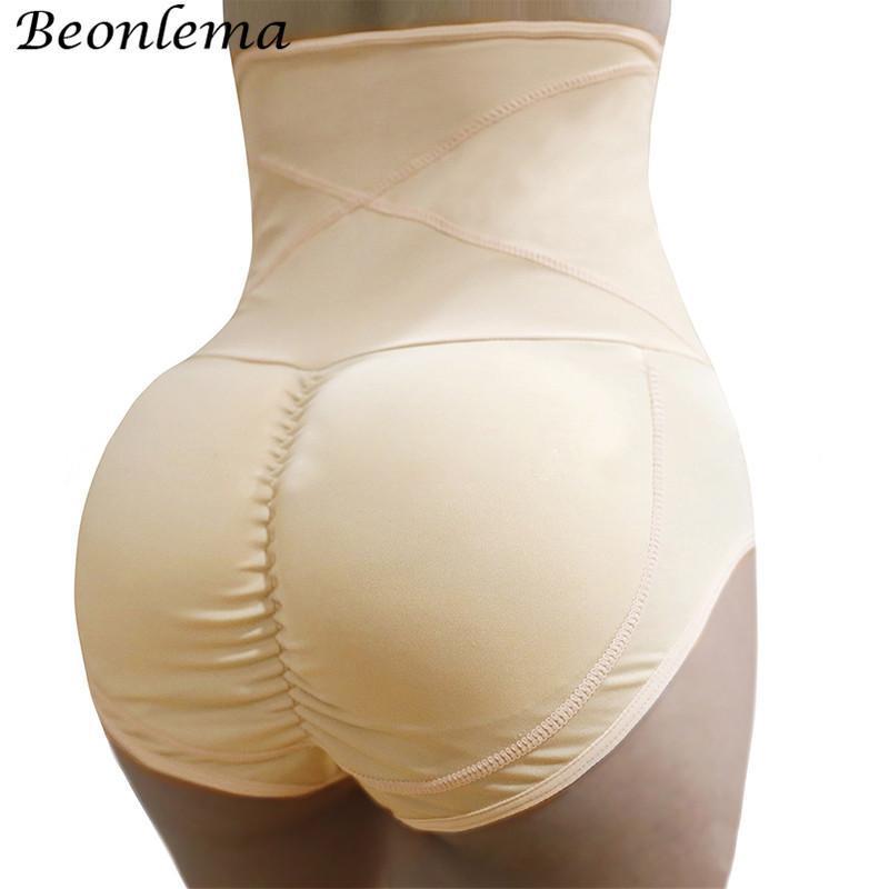 Kadın şekillendirme beonlema kadınlar kontrol külot yastıklı shapewear buenhancer yüksek bel göbek zayıflama kemeri vücut şekillendirici iç çamaşırı çekerek