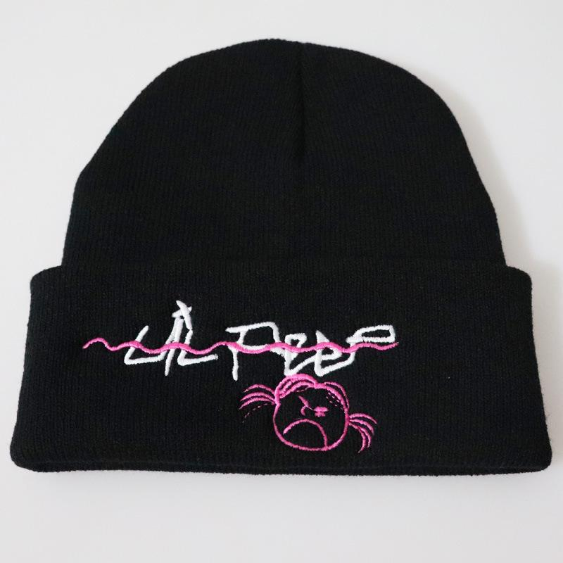 Otoño e invierno cálido bordado sombrero de punto casual jersey sombrero de lana Hip Hop Sombrero Neutral