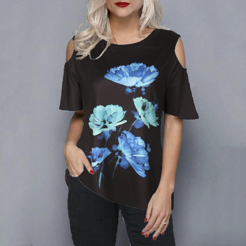 Летние Новые Хлопковые О-Вырезы Женские Сплошные Цвет Корочецветные Топы футболки Дамы Мода Thirts 210224