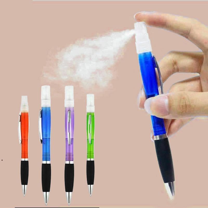 5 cores Pen Spray Pen Ballpoint Pen Plástico Perfume Perfume Esferográfica de Álcool Pen Spray Escritório Frete Grátis Dhd4742