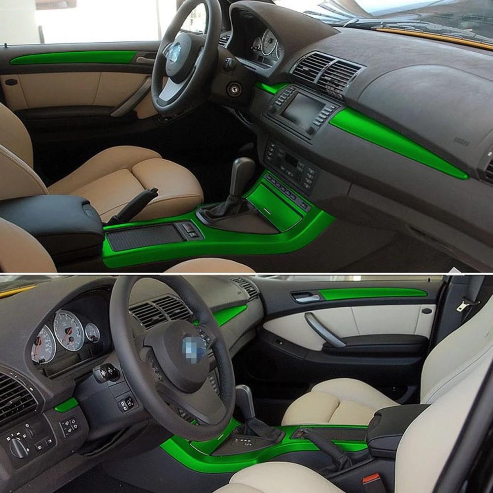 Per BMW X5 E53 1999-2006 Adesivi autoadesivi auto adesivi 3D 5D fibra di carbonio in fibra di vinile auto adesivi e decalcomanie accessori per styling auto