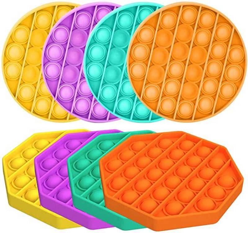 Push Pop Pop Bubble Sensosory Fidge Игрушка среди США Аутизма Специальные нужды Reliver IT Сжатие сенсорной игрушки для детей Семья L006 1000 шт.