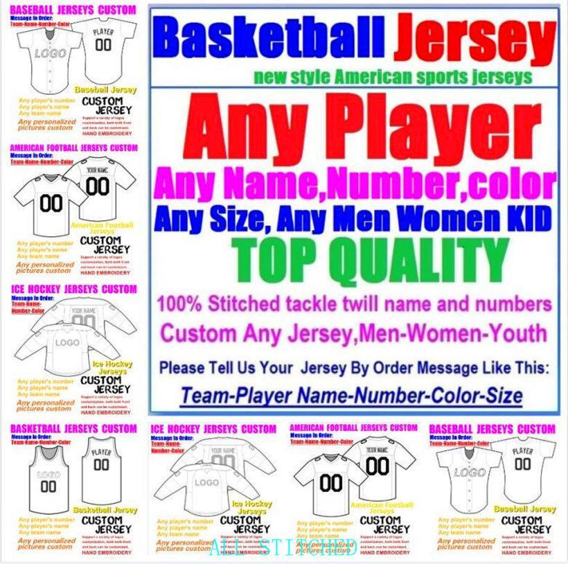 Custom Basketball Béisbol Hockey sobre hielo American Football Jerseys para hombres Mujeres Juventud College Color NRL Rugby Fútbol Jersey Equipos 4XL 5XL 6XL