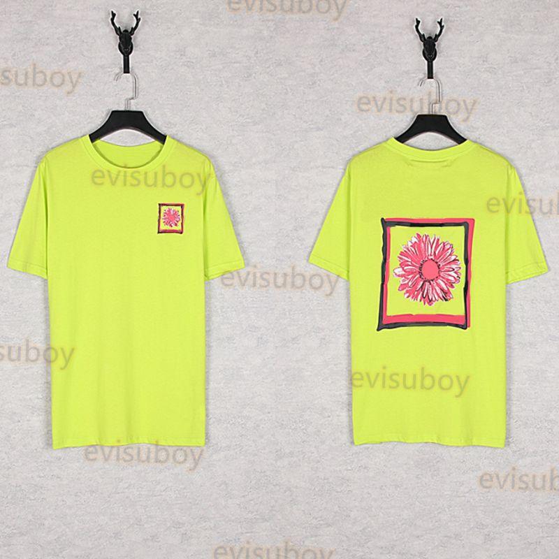 Summer Men Designer T-shirt di alta qualità T-shirt da donna Modello Stampa manica corta Coppie Unisex Tshirts Nero verde verde taglia S-XL