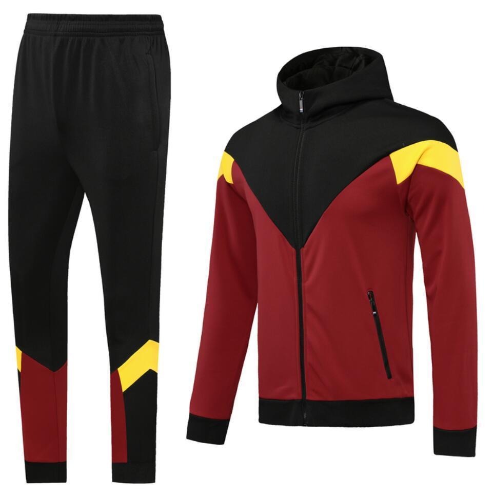0004 style classique veste de piste à capuche de style Maillot de pied survèlements pleine fermeture à glissière Taille S-XL