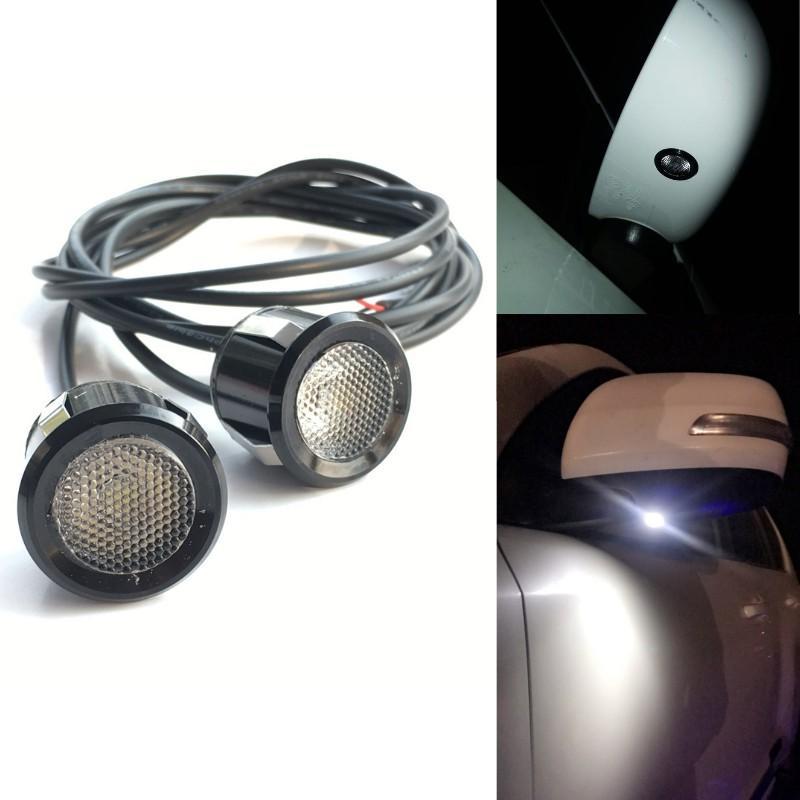 Universal Autos Automobile sinistra destra vista lampada a specchio Lampadina DC 12V impermeabile LED laterale retrovisore specchietto retrovisore giù luce 2pcs / lot