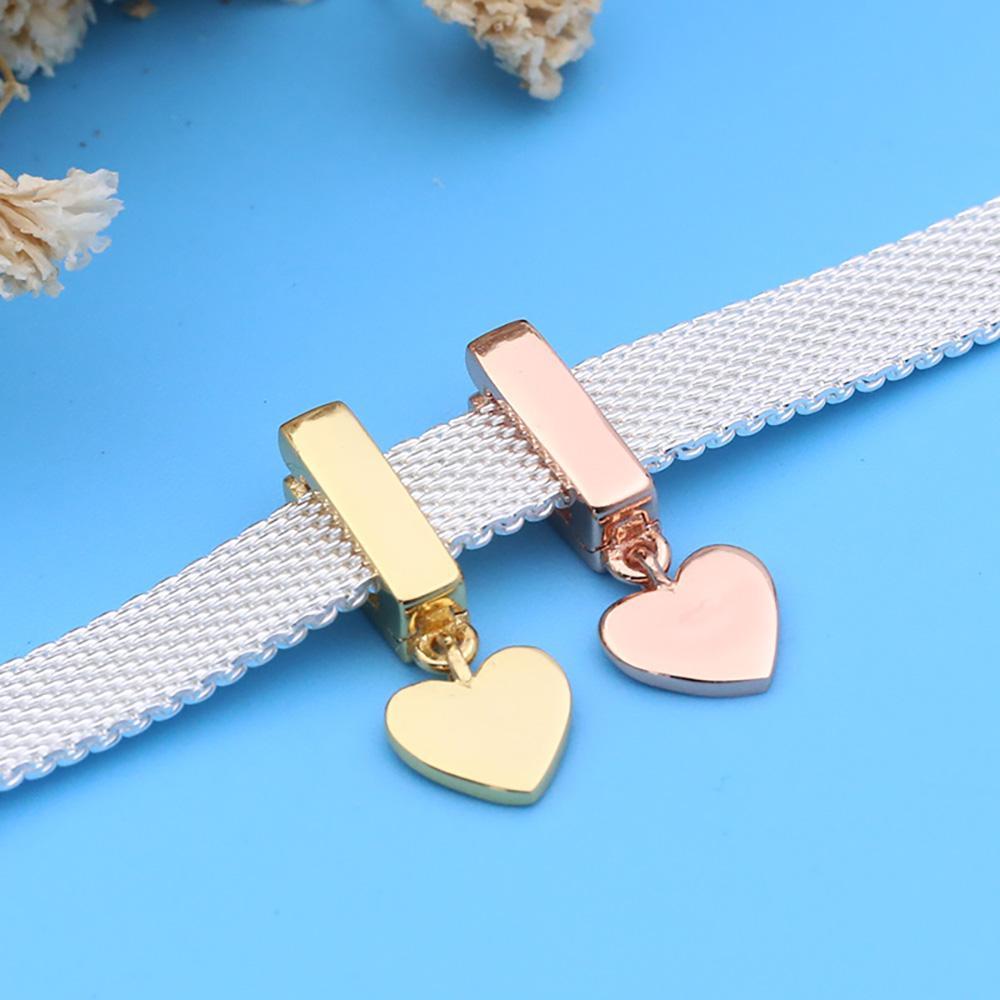 Danturn nuovo 925 sterling argento perlina argento cuore penzolo clip clip child fit fit fit fit reflexion braccialetto di riflessioni donne gioielli rendendo regalo