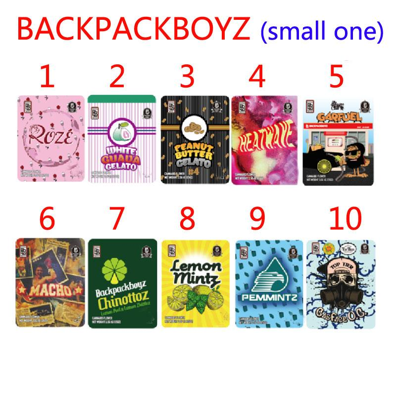 Mochilpackboyz 3.5g Oler a prueba de mylar Bolsos Resellable Baggies Backpack Boyz Biscotti Gelato 41 Guarana Billy Kimber Zerbert Gelatti 5point.la