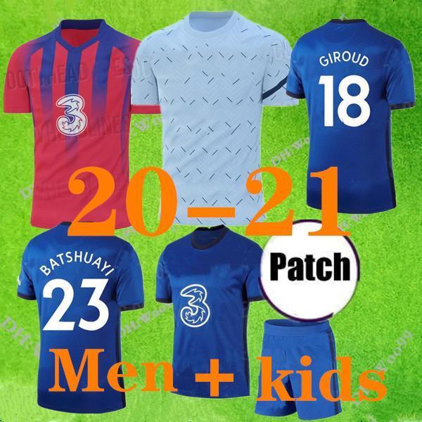 Nuova S-XXL Kante Lampedard Odoi Jorginho Pulisic Cheek Soccer Jersey 2019 2020 Giroud Camiseta de Football Kit Camicia 20 21 Maillot Camisetas