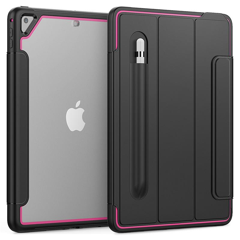아크릴 3 층 보호 케이스 iPad Pro 11 2020 Air4 미니 자석 스마트 커버 Shockproof 삼성 탭 A 10.1 T510 T290 실리콘 군대