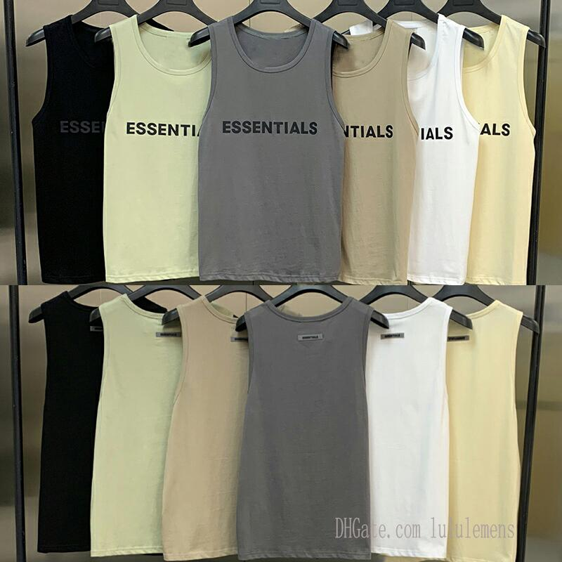 2021 INS T-shirt T-shirt THIRT THERS OF GOD FOG ESSENTUSS VETTORE SPORT T SHIRTS Pallacanestro traspirante Mesh High Street senza maniche Estate