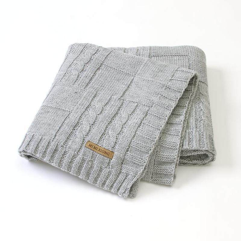 Mantas para bebés Super Soft Newborn Infantil Bebes Swaddle Wrap Manta 100 * 80 cm Solid Niños Cochecito de cama Edredones de cama Marca de punto