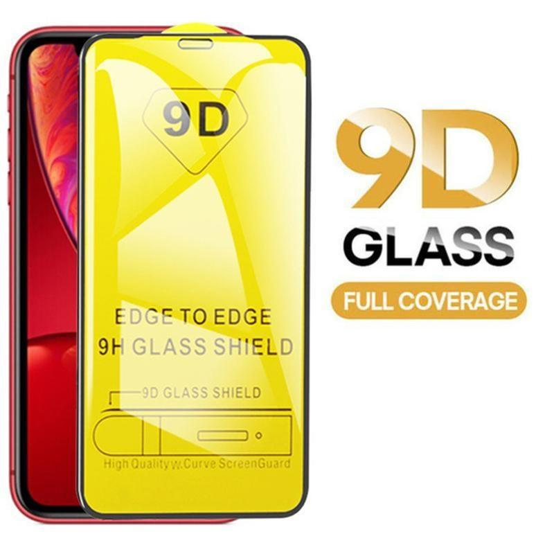 9D 풀 커버 강화 유리 화면 보호기 iPhone XS 최대 XS XR 8 7 6 Plus 11 12 13 미니 프로 최대
