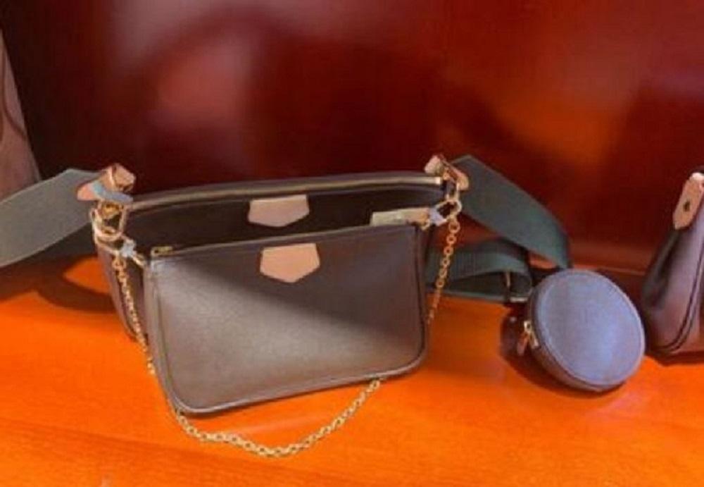 Moda taşınabilir cüzdan, cep telefonu çantası, üç parçalı kombinasyon çantası