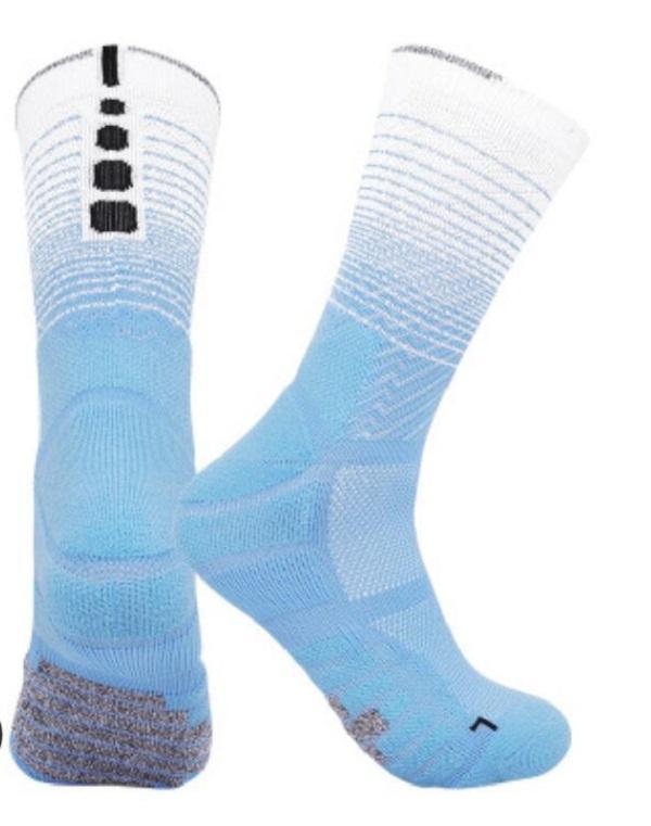 Karışık Tekstil Ayırt Sol ve Sağ Ayak Yetişkin Havlu Alt Açık Spor Çorap Eğilim Erkek Elite Çorap Orta Tüp Basketbol Çorap