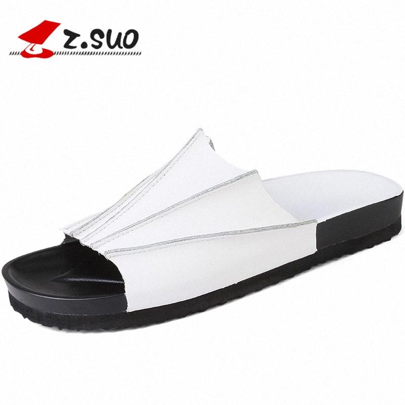 Zsuo 2017 летняя мода коллокационная корова сплит кожа EVA подошвы мужские сандалии сплошные цветные досуг британский стиль обувь ZS18105 U33B #