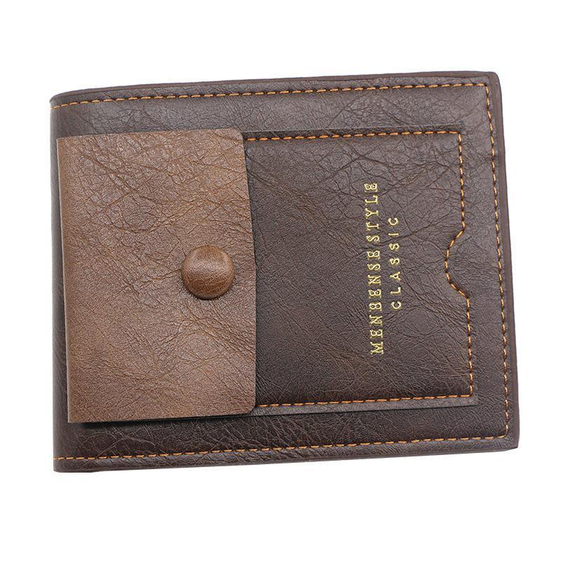 Carteras Vintage Men Wallet Corto Malos Malos Titulares Tarjetas Casual Multi-Function Bolsa Carras De Hombre