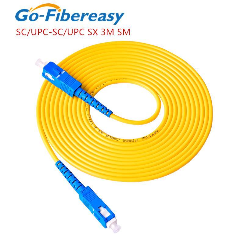 SC UPC Fibre optique Cordon Simplex Fibre SC / UPC-SC / UPC-SC / UPC Câble de cordon de câble de 3,0 mm 3M 3m
