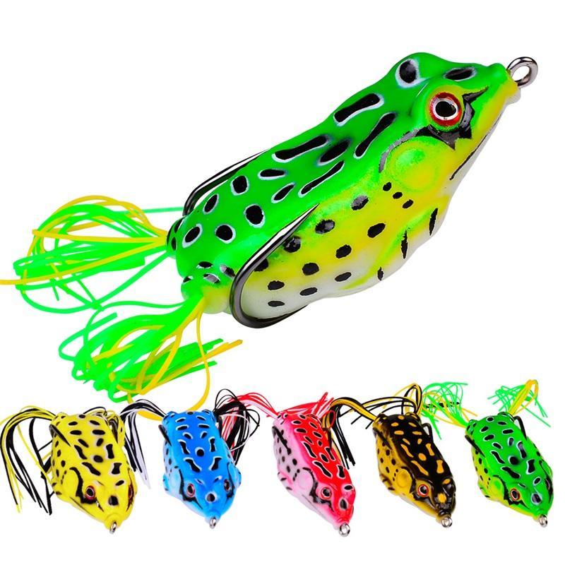 13g 6cm Foreste de la rana de pesca LifeLike Soft Pequeño Salto Frog Avation Bait Silicone Cebo para Crap Fishing Gear Crankbait Crankbaits 28 Z2