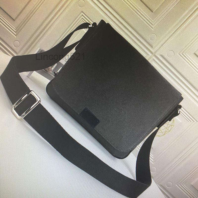 Высококачественный район мм вечера Men Messenger Bag Crossbody Сумки мода Классический кожаный мужчина Сумки на ремнях Дайс Ebene Graphite Bag N41213