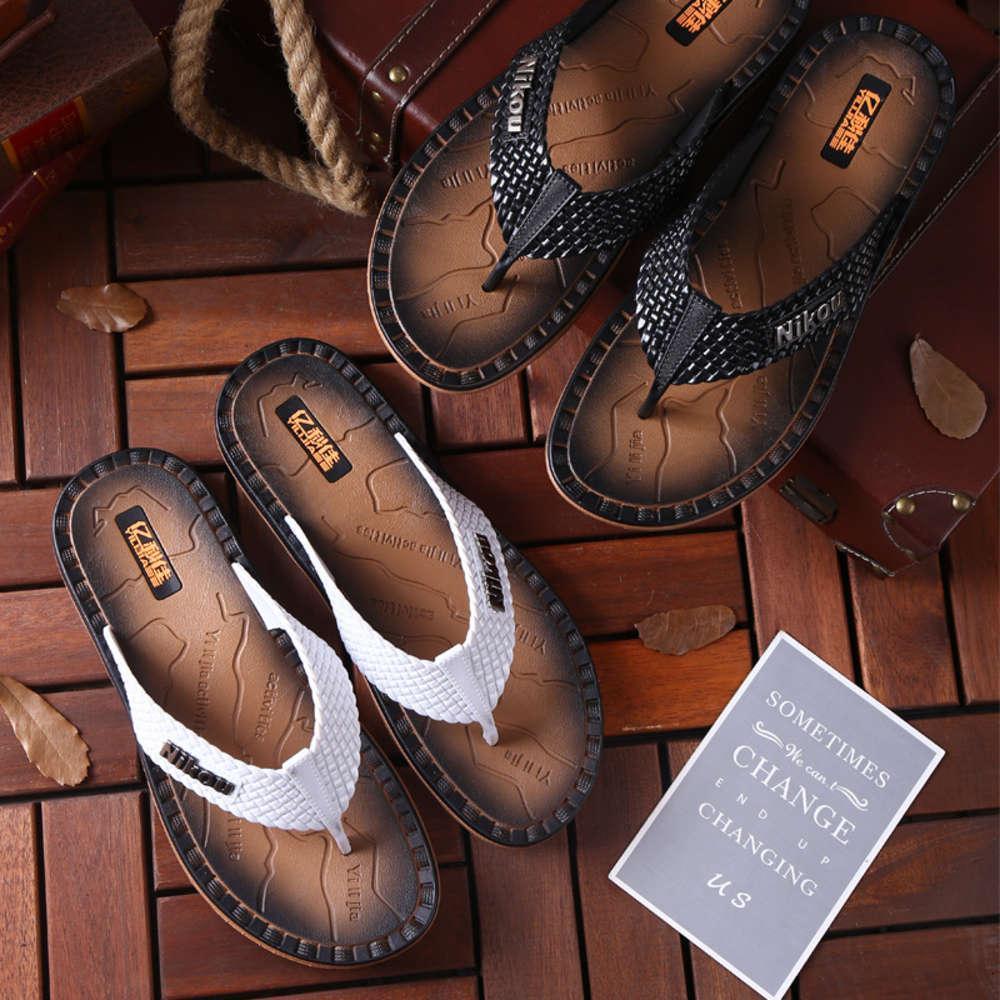 Terlik Yaz Çevirme Flop Trend Kalın Alt Anti Kayma Yumuşak Taban Kişilik Dayanıklı Erkek Sandalet Moda Giyinmek Plaj Ayakkabı