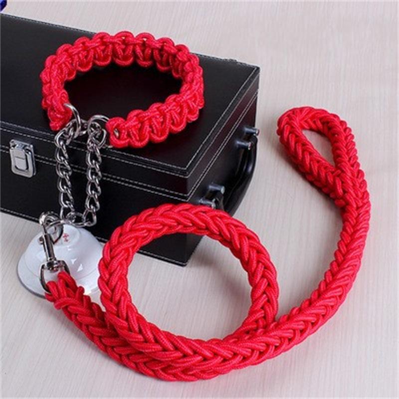 Высококачественный регулируемый нейлоновый ошейник для собачьего воротника для собак набор мягкий воротник для больших собак Pet Repure Puce Teash P C цепной веревка 32 S2