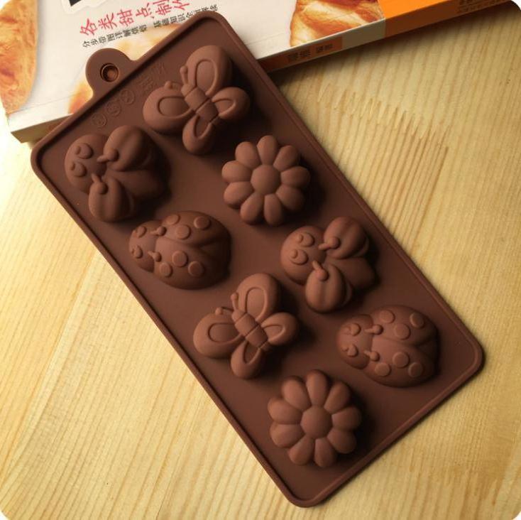 DHL Moldes de Chocolate Silicone Doces Bolo De Cozimento Molde Para Doces Distam Geléia, Sabão, Resina, Flor e Butterfly Atacado