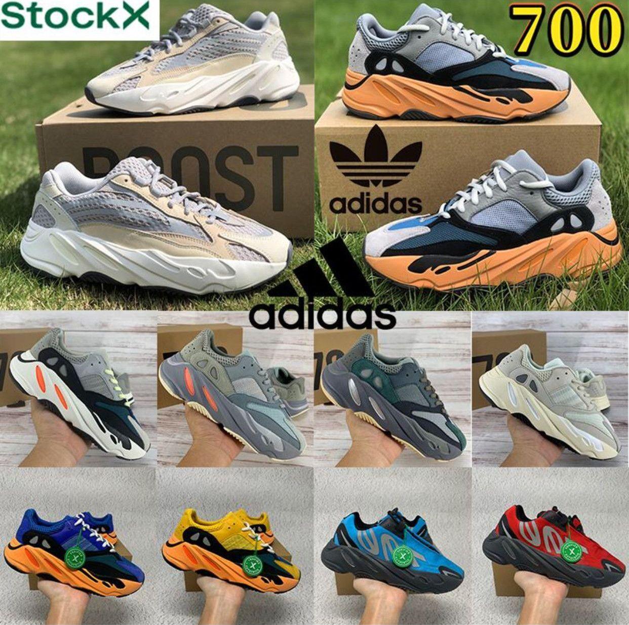 Kutu + Yeşil Tag Kanye Ayakkabı V1 V2 Eremiel Vanta Kany 700 Güneş Statik Erkekler Bayan Batı Mnvn Erkek Spor Tasarımcıları Ayakkabı Atletizm Sneakers 36-47 Boost 7Y5Q #