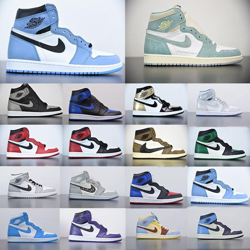 Air Jordan 1 Retro 1s aj1 jordan Rookie jordans men  switch light smoke J Balvin x jumpman high OG University Blue Basketball shoes Colores Vibras Hyper Royal women sneakers