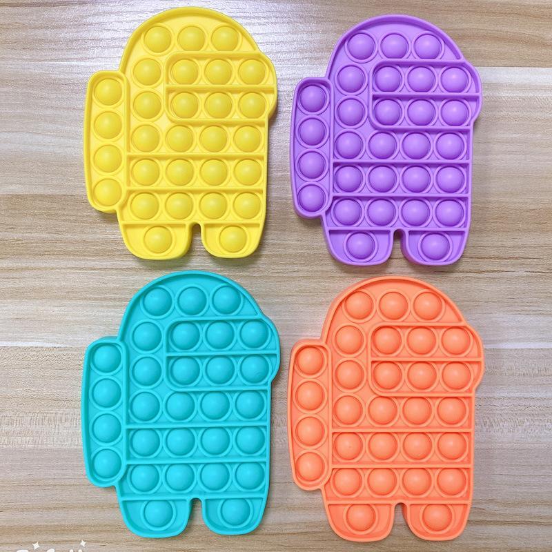 POST POP FIDGET TOY BUBBLE SENSORY AUTIMSS Специальный нужд стресс Reviever POP его сжимает сенсорную игрушку для детей