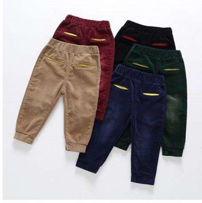 Casual Kids Pants Autumn Corduroy Boys Pants Clothes Girls Pants Children Clothing Vetement Enfant Fille Toddler Trousers 2-6t