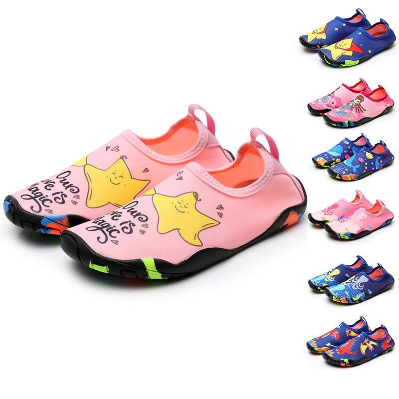 Niños zapatos de playa bebé piso suave interior zapatilla interior snorkel calcetines de natación niños y niñas antideslizante hogar descalzo niños zapatillas