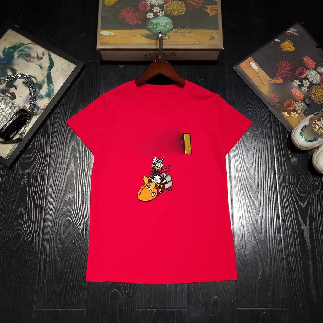 H6E7Fashion Mens Tshirt Nuova estate manica corta Top European American Popolare T-Shirt da stampa Uomo Donna Coppie T-shirt di alta qualità4