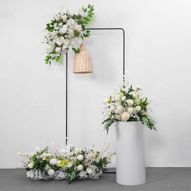 Dekorative Blumen Kränze 45/90 cm Hochzeit Bogen Dekoration Blume Rose Hortensie Künstliche Kugelkugel-Kugelhalterung Kulisse Dekor Tabelle