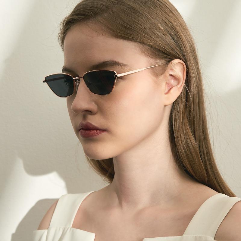 Sonnenbrille ABACHE CAT EYE LUXUS Womne Marke Designer Elegante Mode Trendy Metall Eyewear Weibliche Camping Wandern Sonnenbrille Gafas