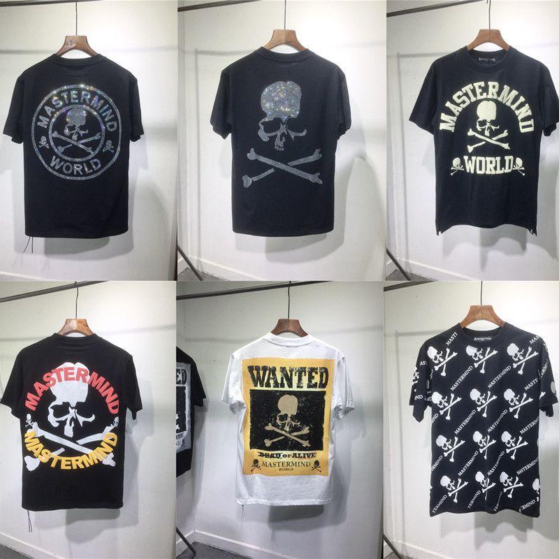 Ağır Kumaş Elmas Mastermind T Gömlek Erkekler Kadınlar 1: 1 En İyi Kaliteli Yaz Stil Rahat Unisex T-Shirt Tees C0304