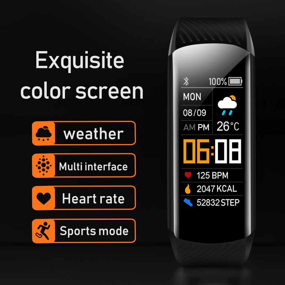 C5S Smart Wristband Watch Fitness Bracelet Android IOS Heart Rate Band Sleep Monitor Blood Pressure Tracker