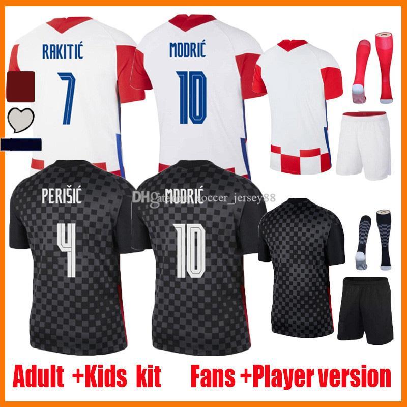 2021 Rakitic Mandzukic Soccer Jerseys المشجعين المشجعين الإصدار 20 21 22 Mailleots de القدم 2020-21 madric perisic kovacic الرجال أطقم موحدة كرة القدم قميص