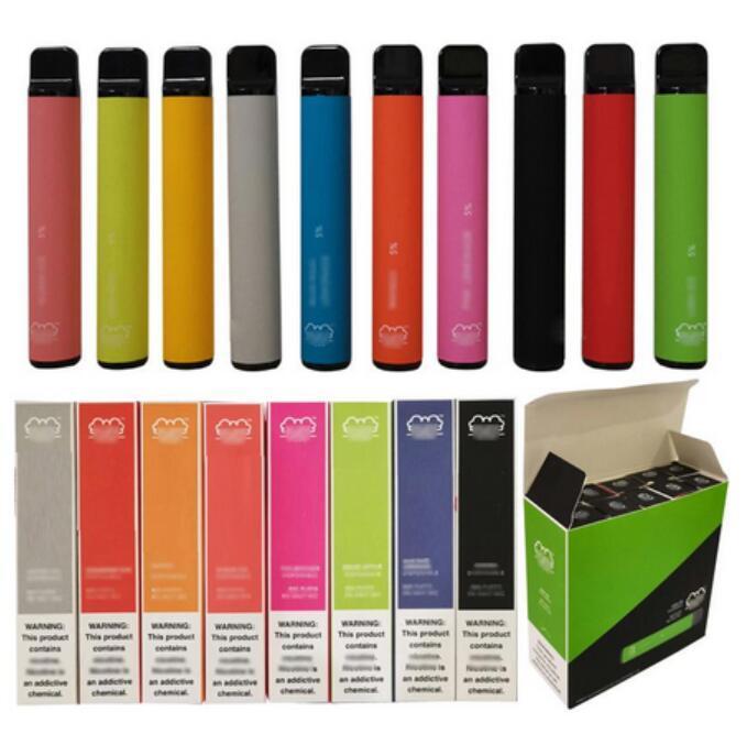 Puff Bar Plus 800 + puff bocca e monouso puff più cartuccia 550mAh batteria 3.2ml pre-riempito Pod Pods Stick Style E Sigarette Spedizione gratuita