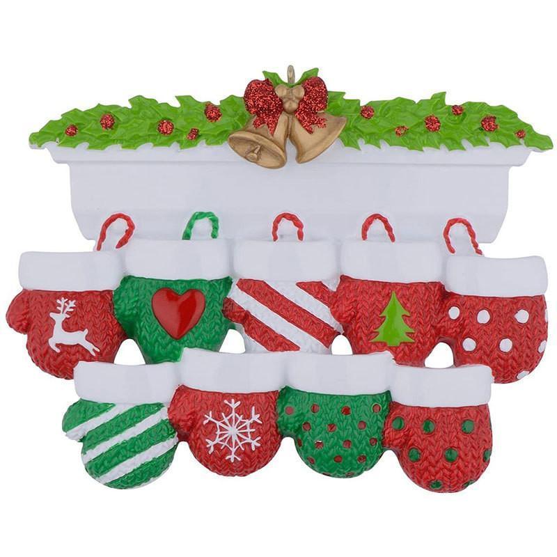 NewStyle Personalisierte Familie Weihnachtsbaum Ornament Anhänger Mini Weihnachtsstocking Hängende Anhänger FWF10347