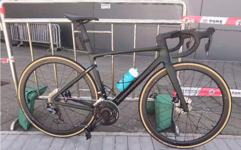 جودة عالية SL7 إطار الكربون الخيوط bb 12x142 ملليمتر من خلال المحور مسطح جبل الطريق الدراجات القرص 700C wheelsset كل شيء هو aero المقود