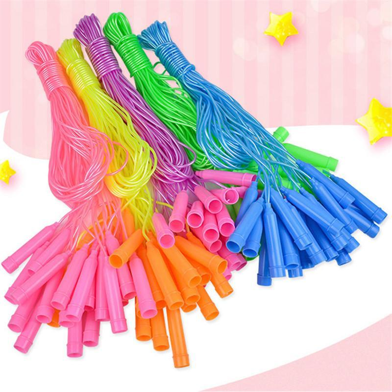 Jump Ropes 30 Pieces/lot 2.4M Cross Rope PVC Adjustable Kids Students Skipping Exercise Fitness Speed Sport