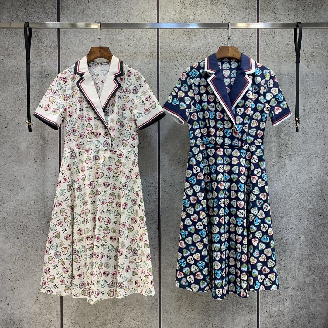 Milan Pist Elbise 2021 Yeni Bahar Yaz V Boyun kadın Tasarımcısı Elbise Marka Aynı Stil Elbise 0301-40