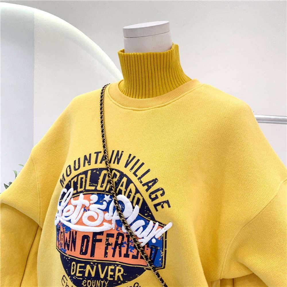 Sweatshirts 320g Anti Pilling Koreaner Plüsch Verdickter Pullover 2020 Winterkleidung Neue High Collar Langarm Top Für Frauen