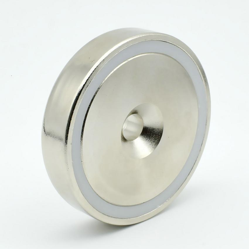 200 pcs Mounting Magnet Diameter 32mm Clamping Pot Magnet with Countersunk Crew Hole Strong Neodymium Permanent Holding