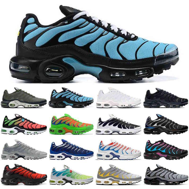 Más nuevo TN Plus SE Hombres Running Zapatos Triple Negro Blanco Cráter Psychic Blue Lava Trainers Sports Sneakers Tamaño 40-46