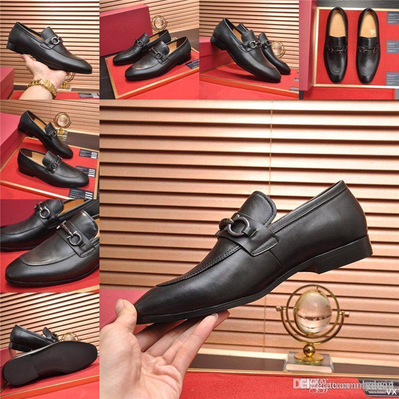 MM Hommes Cuir Business Shoe Shoe Britannique Brokogue de luxe Chaussures Office Oxfords Chaussures pour hommes Cuir Casual Chaussures 33
