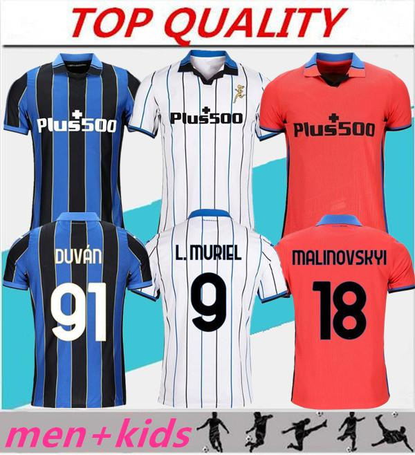 Hommes + kits pour enfants 21 22 Gomez Atalantas Soccer Jerseys 2021 2022 Atalanta BC Maglia da Calcio Duvan Ilicic Pasalic Freuler Chemise de football
